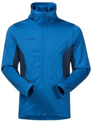 Bergans Lom Fleece Hooded Outdoor Jacket fjord / dk steelblue Miehet