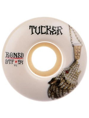 Bones Wheels Stf Tucker Wolf Chain 83B V1 54mm Wheels white