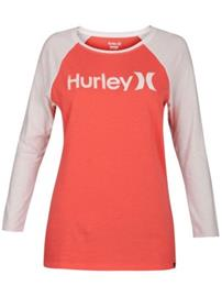 Hurley One And Only Perfect Raglan T-Shirt LS rush coral Naiset