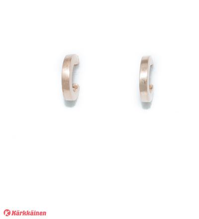 Silver Bar 6909 Flakkasatin hopeakorvakorut