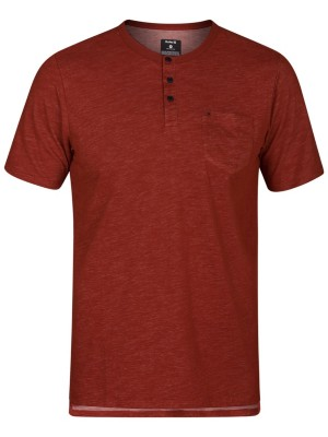 Hurley Dri-Fit Lagos Henley T-Shirt mars stone Miehet
