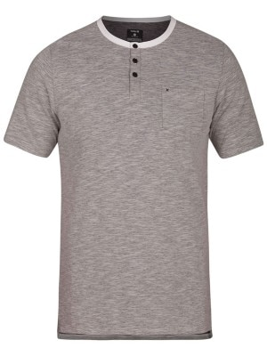 Hurley Dri-Fit Lagos Henley T-Shirt dark grey heather Miehet
