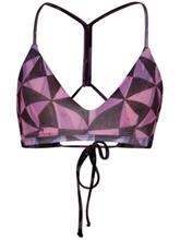 Hurley Quick Dry Bula Surf Bikini Top laser orange Naiset