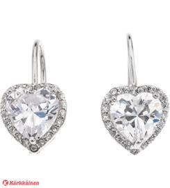Silver Bar 7873 Diana sydän hopeakorvakorut