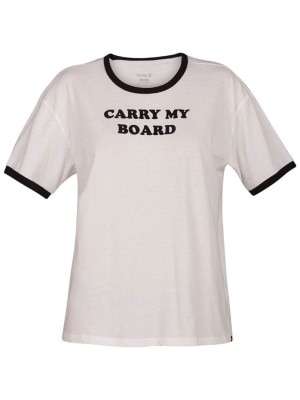 Hurley Carry My Board Ringer T-Shirt white Naiset
