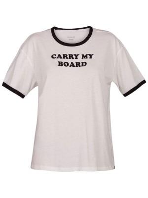 Hurley Carry My Board Ringer T-Shirt white Naiset