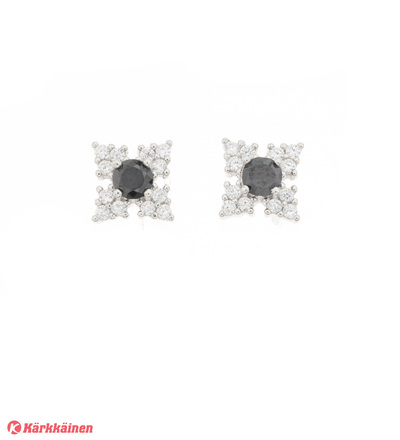 Silver Bar 7561 Ninjatähti hopeakorvakorut