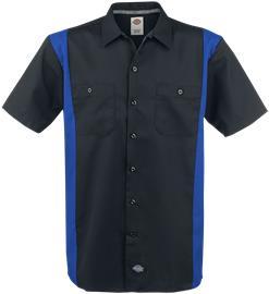 Dickies Two Tone Work Shirt Worker-paita musta-sininen
