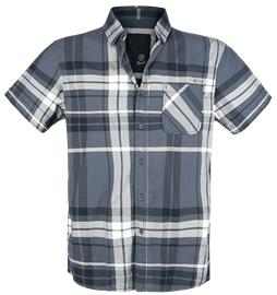 Brandit Mike Checkshirt Worker-paita antrasiitti/musta/valkoinen
