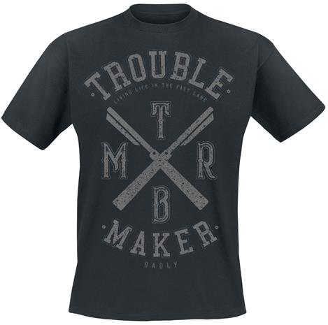 Badly Trouble Maker T-paita musta