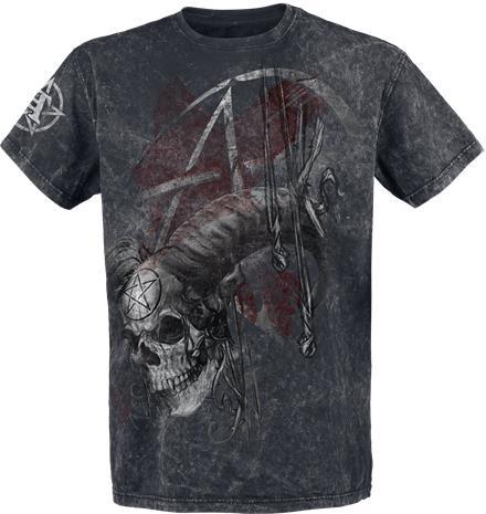 Alchemy England Samhain Skull T-paita harmaa