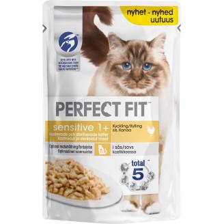 Perfect Fit Kissanruoka 85 g Sensitive Sterile Kanaa kastikkeessa