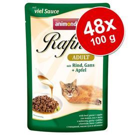 Säästöpakkaus: Animonda Rafinä© 48 x 100 g - herkkukastikevalikoima (4 makua)