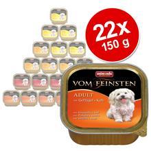 Sekoituspakkaus: Animonda Vom Feinsten 22 x 150 g - mix 1: 4 siipikarjamakua