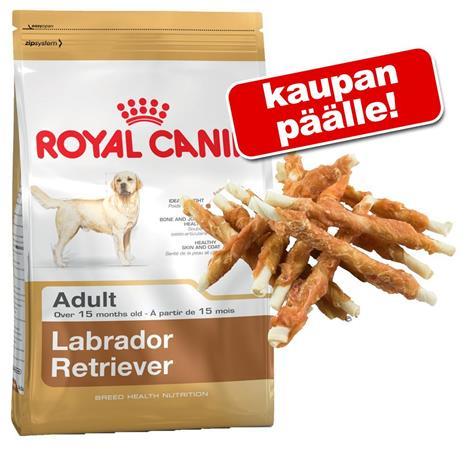 Royal Canin Breed + Dokas-kananrintatikkuja - Bulldog Adult (12 kg )