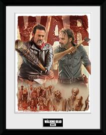 Framed collectors print - TV - The Walking Dead Season 8 Illustration - Merchandise