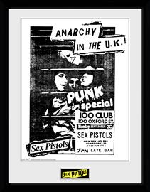 Framed collectors print - Music - Sex Pistols 100 Club - Merchandise