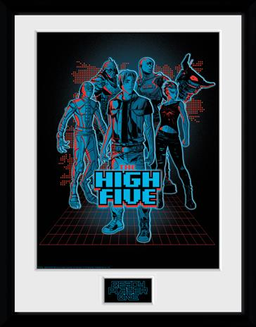 Framed collectors print - Movies - Ready Player One - The High Five - Merchandise