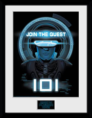 Framed collectors print - Movies - Ready Player One - Join The Quest - Merchandise