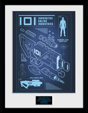 Framed collectors print - Movies - Ready Player One - 101 Blueprint - Merchandise