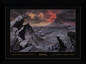 Framed collectors print (70x50 cm) - Movies - Lord of the Rings - Mount Doom - Merchandise