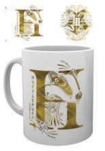 Mug - Harry Potter - Hufflepuff Monogram - Merchandise