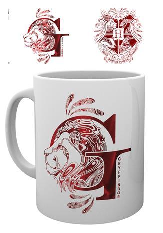 Mug - Harry Potter - Gryffindor Monogram - Merchandise