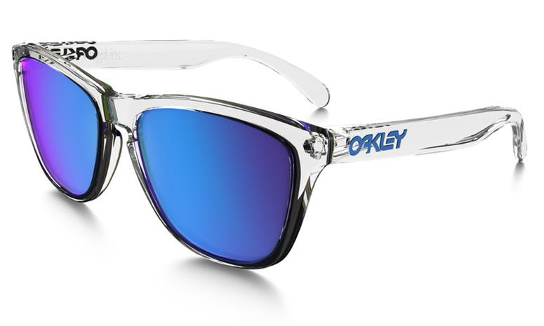 Oakley Sunglasses Frogskins polished clear sapphire iridium