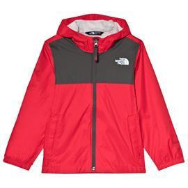 Red and Grey Zipline Waterproof Rain JacketXS (6 years)