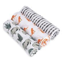 Rhino/Leopard and Zebra Print Serengeti 3 Pack Swaddles
