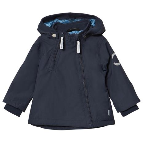 Nylon Baby jacket Solid Blue Nights80 cm