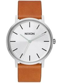 Nixon The Porter Leather silver / tan Miehet