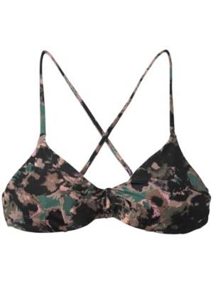 RVCA Camo Floral Crossback Bikini Top mauve Naiset