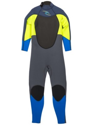Rip Curl D/Patrol 3/2 FL Back Zip Wetsuit Youth f.lemon