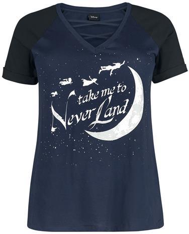 Peter Pan Take Me To Neverland Naisten T-paita tummansininen-musta
