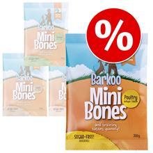 Säästöpakkaus: Barkoo Mini Bones 4 tai 8 x 200 g - lohi 8 x 200 g