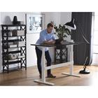 Beliani Sähkösäädettävä mustavalkoinen työpöytä 180x80 cm UPLIFT