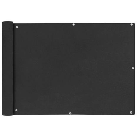 vidaXL Parvekkeen suoja Oxford-kangas 75x600 cm Antrasiitti