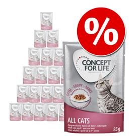 Concept for Life -säästöpakkaus 24 x 85 g - Sterilised Cats in Gravy