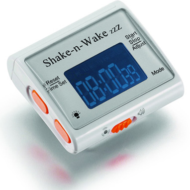 """Shake n Wake ä""""änetön Herätyskello"""