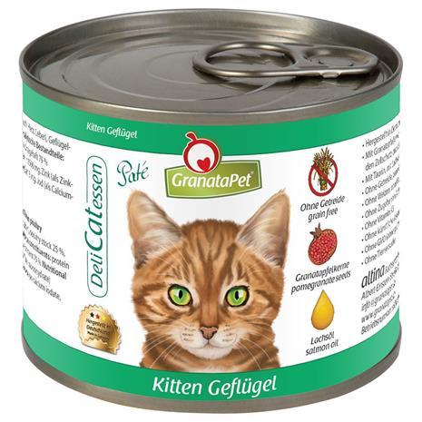 GranataPet DeliCatessen Kitten, siipikarja - 6 x 200 g purkit