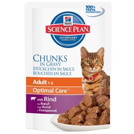 Hill's Science Plan Adult Chunks in Gravy - 6 x 85 g Beef