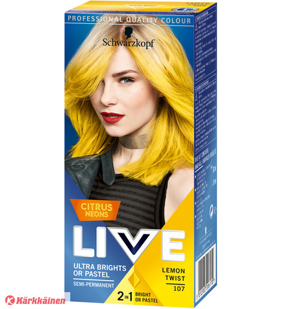 Schwarzkopf Live Color Ultra Brights 107 Lemon Twist hiusväri