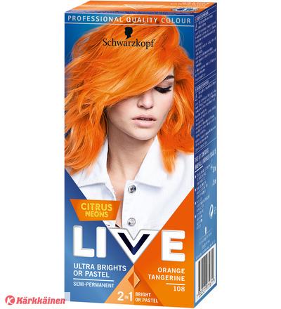 Schwarzkopf Live Color Ultra Brights 108 Orange Tang hiusväri