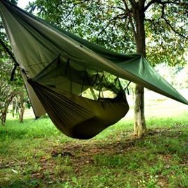 Riippumatto hyttysverkolla & sadesuojalla