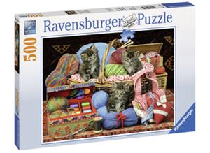 Ravensburger Palapeli Neulovat Kissat 500 Palaa