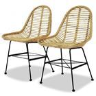 vidaXL Ruokapöydän tuolit 4 kpl Luonnollinen rottinki