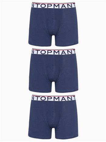 Topman Navy Sports Waistband Trunks Bokserit Navy Blue