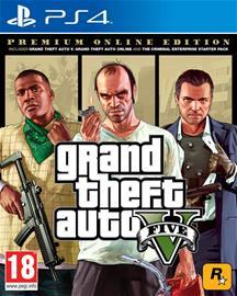 Grand Theft Auto V (GTA 5) Premium Online Edition, PS4-peli