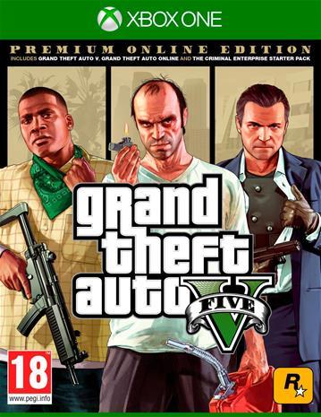 Grand Theft Auto V (GTA 5) Premium Online Edition, Xbox One -peli